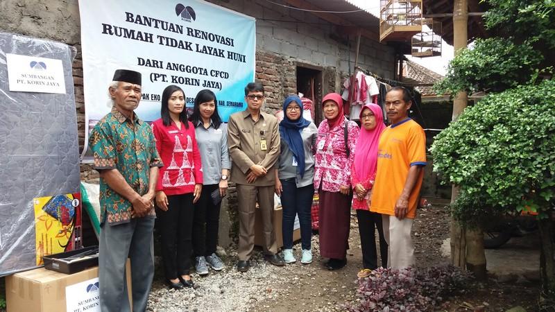 Handover of Assistance for Unworthy Home Remodeling (RTLH) by PT. Korin Jaya